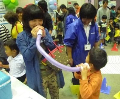 児童館まつり サイエンス体験ブース
